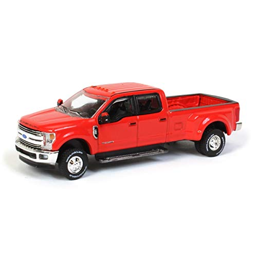 Greenlight 2019 Ford F-350 Lariat Dually Pickup Truck Race Red Dually Drivers Series 5 1/64 Diecast Model Car 46050 E