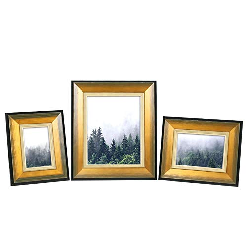 Foto lijstje Vintage photo frame golden vintage massief houten fotolijst fotolijst custom fotolijst op maat for de woonkamer Dresser Woondecoratie Gratis Wash Foto's (Color : Gold, Size : 7 inch)