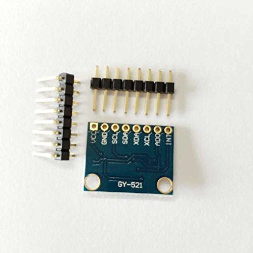 GY-521 6DOF MPU-6050 Módulo Acelerómetro y Giro de 3 Ejes para Arduino Bubory