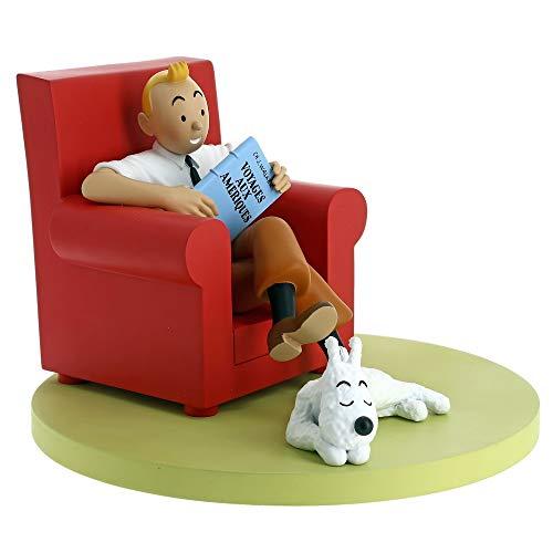 Moulinsart Figura de colección Tintín en su sillón con Milú 46404 (2018)