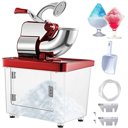 VEVOR 110V Commercial Ice Crusher 440LBS/H, ETL Approved 300W Electric Snow Cone Machine with Dual...