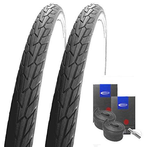 Set: 2 x Schwalbe Road Cruiser Reflex 42-622 / 28x1.60 + Schwalbe Schläuche Dunlopventil