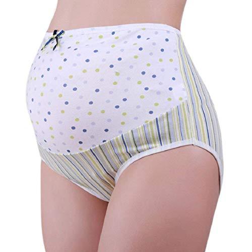 Huixin Grossesse Slip Ladies Maternity Print Femmes Enceintes sous Vêtements Pantalons Vintage Confortables De Maternité Casual Femmes Doux Pantalons Court (Color : Grün, Size : 2XL)