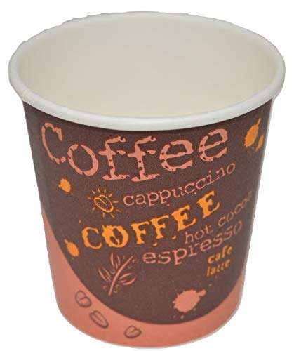 Disposable Espresso Coffee Cups - 4 Ounce - Design To Go Hot Cup - The Perfect Solution For Sampling And Enjoying Hot Drinks - 200 Count