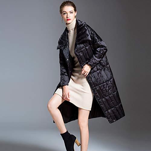 FAPROL-Down Jackets Longue Doudounes pour Femmes avec Ceinture, Chaude Manteaux d'hiver Exterieur Duvet De Canard Vêtements, À Col Montant Black M