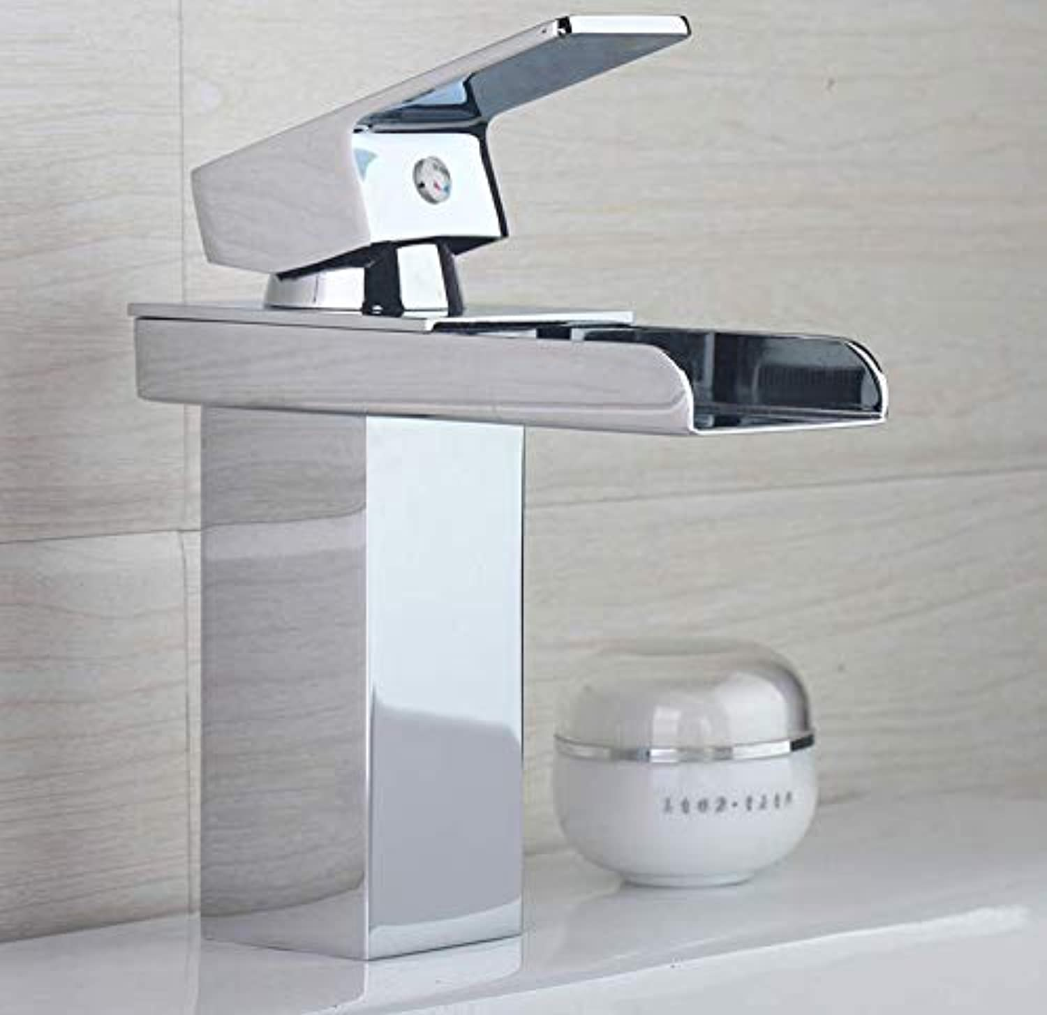 Bathroom Faucet Bathroom Faucets Waterfall Chrome Polish Basin Taps Hot and Cold Water Bathroom Sink Tap Mixer Faucet