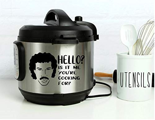 Instant Pot Vinyl Decal | Hello? Is It Me Your Cooking For• 3 Sizes Available • Lots of Colors to Choose From • Instapot • Pressure Cooker Decal • BlueMoonFlowerDesign