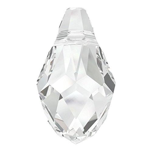 Swarovski Briolette Anhänger Crystal, 12Stück