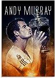 ZBYBGP Rompecabezas para Adultos,póster de Andy Murray,Rompecabezas,Rompecabezas para niños,Juego Intelectual,Aprendizaje,Juguetes educativos,1000 Piezas (75 x 50 cm)