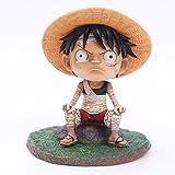 No One Piece Q Edition Childhood Vendaje Luffy Ace Saab Anime Hecho a Mano Coche Hecho a Mano Decoración Ajedrez Hecho a Mano Rey Anime Superhéroe Estatuas Regalo