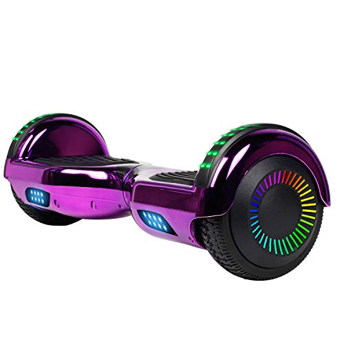 YHR Hoverboard 6.5' Two-Wheel Self Balancing Hover Board with Bluetooth Speaker and LED Lights Hoverboard for Kids and Adults