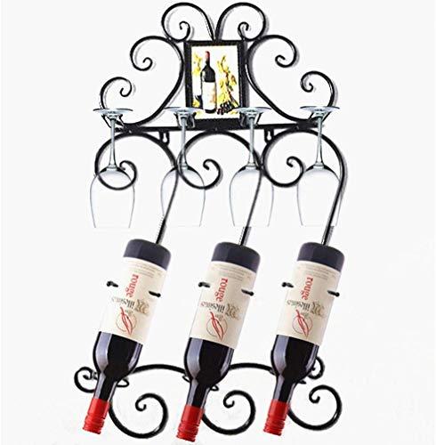 DECORACION FHW Estante del Vino Separado Holder Compartimentos de usos múltiples del Vino Display solución de Almacenamiento Ideal de Vino Botellas histórico de precipitación de Hierro (Color : #1)