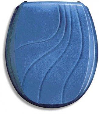Hochwertiger Edler WC Sitz-Toilettendeckel-Landhausstyle-Modell :Modra -Farbe :California Blau -Massivholz lackiert