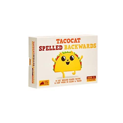 Tacocat Spelled Backwards, Familienfreundliche Partyspiele, Kartenspiele für Erwachsene, Jugendliche & Kinder
