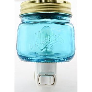 Mason Jar Plug In Fragrance Wax Warmer Blue by Tuscany Candle