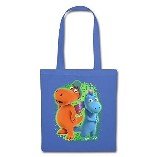 Spreadshirt Der Kleine Drache Kokosnuss mit Wasserdrache Wokki Stoffbeutel, Hellblau