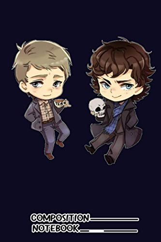 Chibi Sherlock And John Notebook: (110 Pages, Lined, 6 x 9)