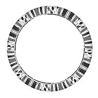 パンダとうさぎ 芸術絵画 ステアリングホイ38cmールカバー自動車車のステアリングホイールカバーケース 革 ステアリングカバー マイクロファイバーオシャレ 通気性いい 快適な耐久性滑り止