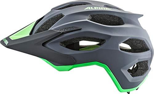 Alpina Unisex– Erwachsene CARAPAX 2.0 Fahrradhelm, Charcoal-Green, 57-62 cm - 3