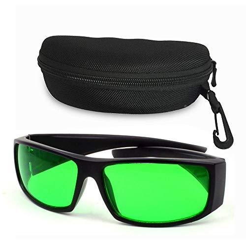 Deaunbr Grow Room Glasses Lichtschutzbrille für LED Pflanzenlampe Grow Lampe Brille I&R und U&V-Schutzbrille mit Schutztasche Hardcase Brillenetui Goggles