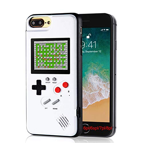 Video Gaming Case for iPhone 6pl/6s pl/7pl/8pl, Handheld Retro Video Game Console Compatible with iPhone 6/6s/7/8 Plus, 5.5-Inch iPhone 6+/6s+/7+/8+