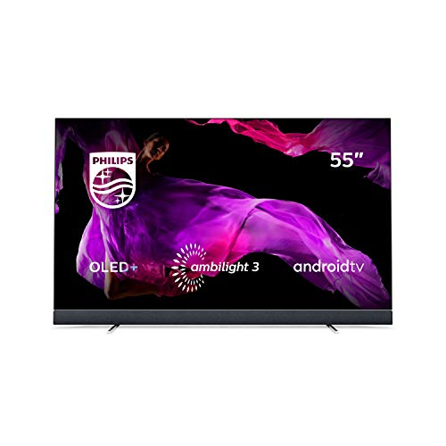 Philips 55OLED903/12 139cm (55 Zoll) OLED TV (4K Ultra HD, Triple Tuner, Android Smart TV) Silber