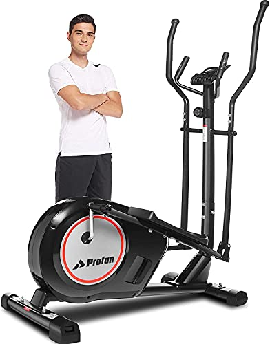 Profun Crosstrainer Für Zuhause, Ellipsentrainer mit 8 Magnetwiderstandsstufen APP-Steuerung Bluetooth Herzfrequenzsensor und 170KG Gewichtskapazität