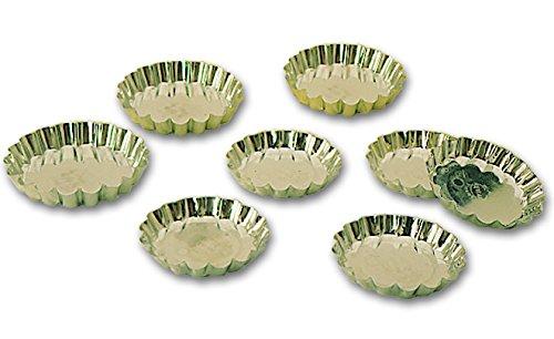 Blister de 12 tartelettes cannelées professionnelles en fer blanc à 90 mm de diamètre