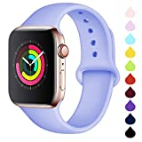DCMEKA Compatible avec Apple Watch Bracelet 38mm 42m 40mm 44mm, Bracelet de Sport en Silicone...