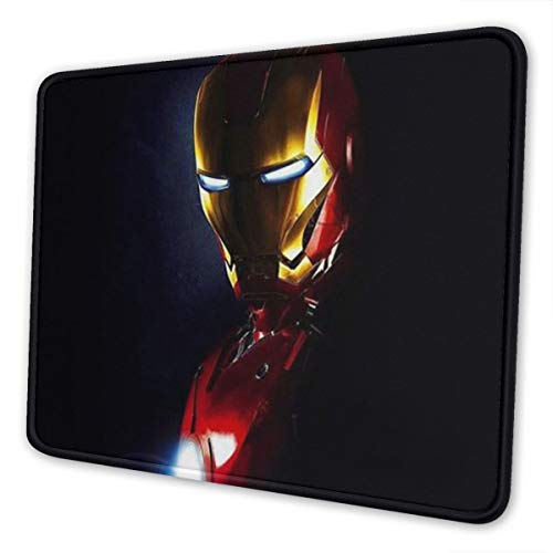 Gaming Mouse Pad - Iron Man Cute Mouse Mat Non-Slip Rubber Base Mousepad for Laptop, Computer and PC