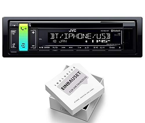 JVC KD-R891BT 1DIN Radio Bluetooth Spotify mit Einbauset für Peugeot 206 + 206 CC 1998-2007