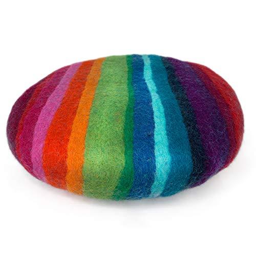 8-Natur® Cojín redondo grueso para silla de fieltro multicolor de 100% puro fieltro de merino – Cojín acolchado con aprox. 35 cm de diámetro para sillas, bancos y como cojín