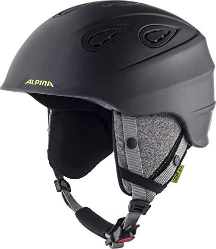 ALPINA GRAP 2.0 Skihelm, Unisex– Erwachsene, charcoal-neon matt, 57-61
