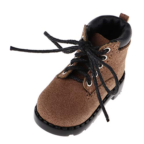 CUTICATE Miniature Hiking Boots for 1/6 BJD and 12 inch Dolls Outfit Accessories - Brown