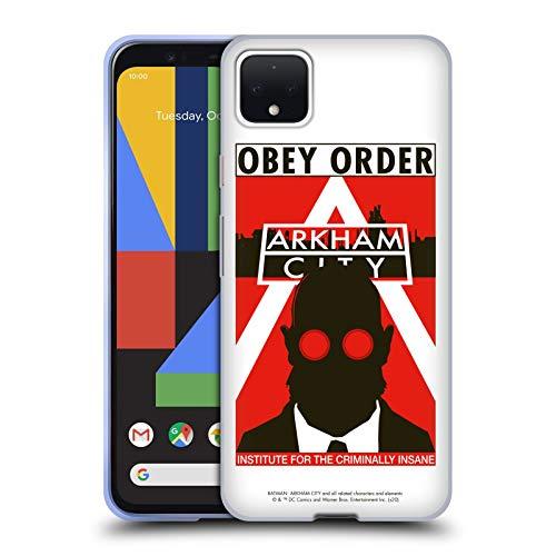 Head Case Designs sous Licence Officielle Batman Arkham City Hugo Strange Obey Order Graphiques Coque en Gel Doux Compatible avec Google Pixel 4 XL