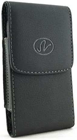 Black Leather Side Case Cover Pouch Belt Holster Clip for iPhone 6, 6S, 7 - Google Pixel - Samsung Galaxy J3, J5, S5, S6 Edge, S7