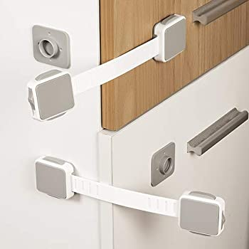 Adjustable Child Safety Locks3M Strong Adhesive Child Safety Cabinet With Loc