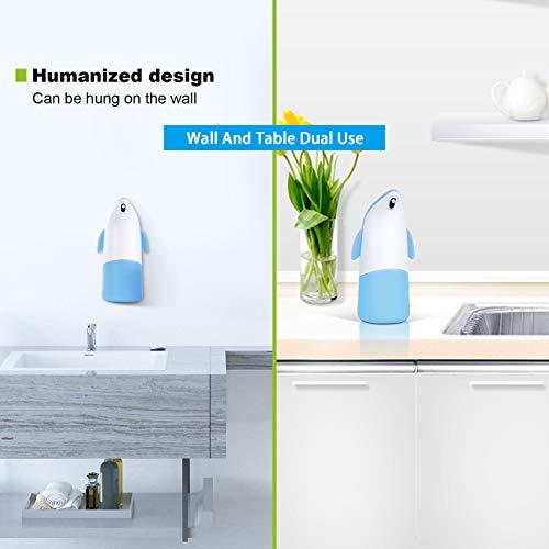 Bagno Nero Wimaha Dispenser di Sapone Automatico,Dispenser di Sapone Dispenser Touchless Distributore Sensore a Infrarossi Senza Contatto e Base Impermeabile per Cucina