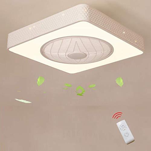 Creatieve eenvoud met afstandsbediening, stil, plafondventilator voor slaapkamer, led, plafondlamp, dimbaar, plafondventilator, decoratie, verlichting, B B