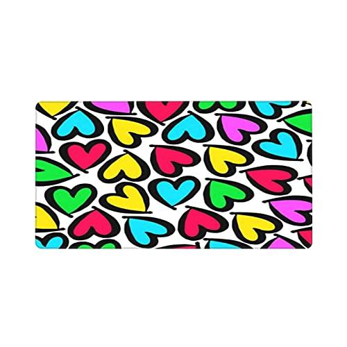 Alfombrilla de ratón para Juegos 30X80CM,corazón Vector Rojo día símbolo Elemento Amor Icono diseño Color romántico,Base de Goma Antideslizante,Adecuada para Jugadores,PC y portátiles