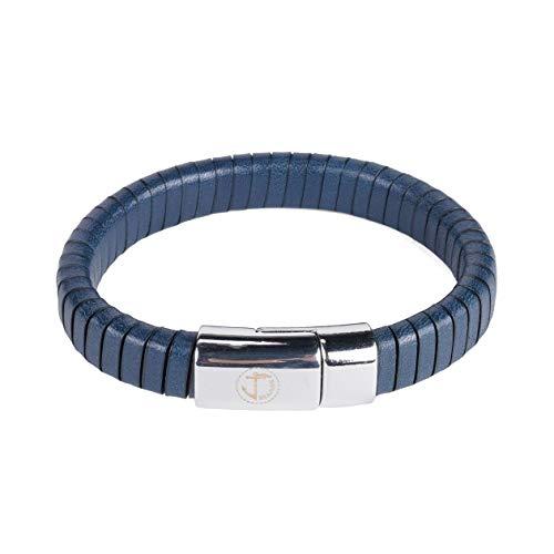 Doppeltes Leder Floreana Seajure Armband Marineblau