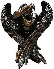 MagiDeal Bronzen Afwerking Gevleugelde Naakte Engel Sculptuur Standbeeld Erotische Kunst Ornament