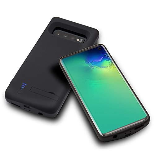 Huije Akku Hülle für Samsung Galaxy S10, 6000mAh Tragbare Ladebatterie Zusatzakku Externe Handyhülle Batterie Wiederaufladbare Schutzhülle Akku Case [6,1 Zoll] - Nicht für S10 5G