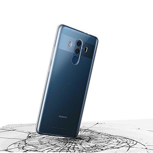 Gosento Huawei Mate 10 Pro Hülle TPU Case, Soft Flex Silikon Crystal Ultra Dünn Clear Schutzhülle Cover für Huawei Mate10 Pro (Transparent) EINWEG - 3