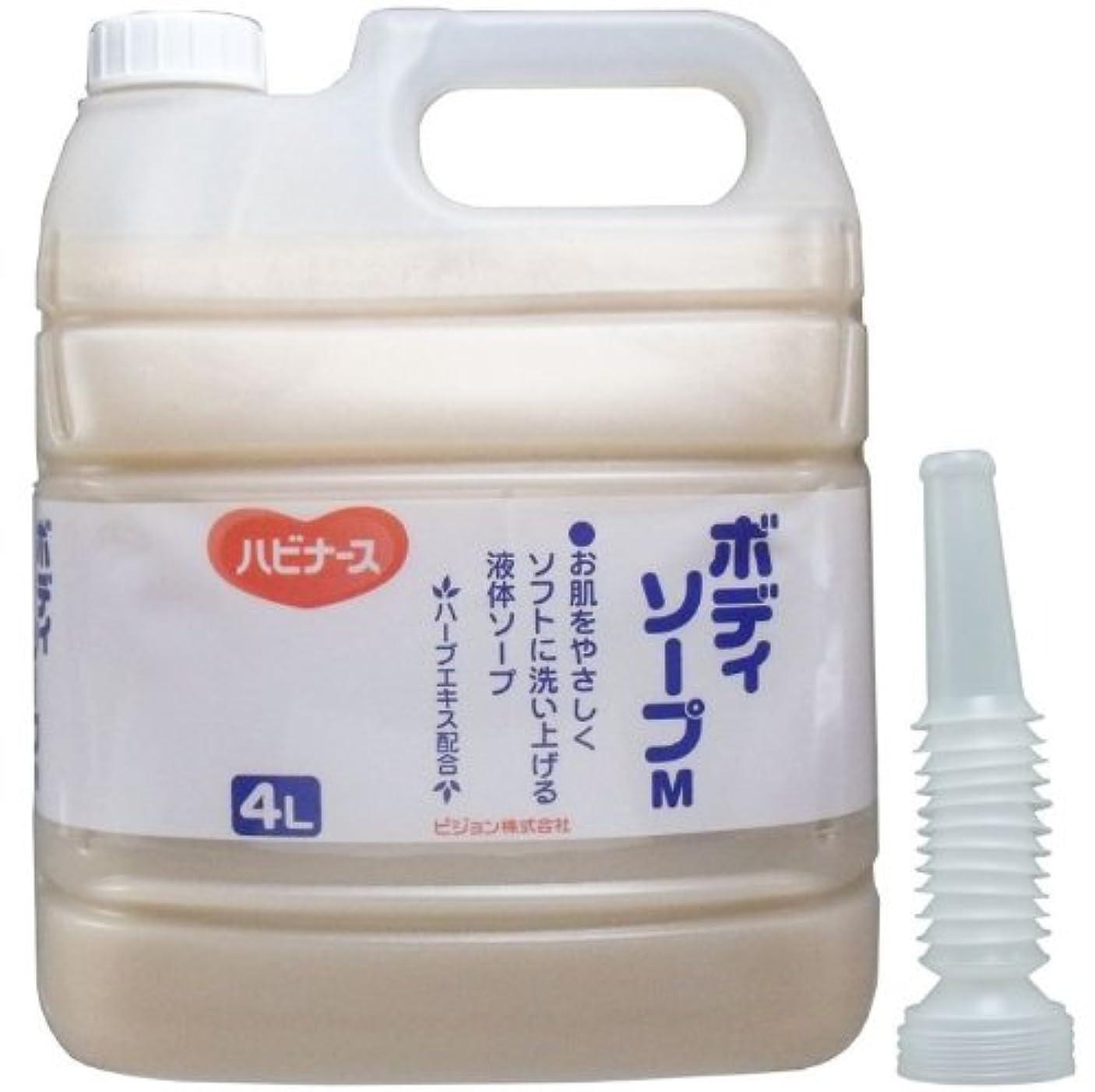 レパートリー高揚したきしむ液体ソープ ボディソープ 風呂 石ケン お肌をやさしくソフトに洗い上げる!業務用 4L【4個セット】