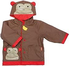Skip Hop Zoo Little Kid and Toddler Hood Rain Jacket, Large, Multi Marshall Monkey