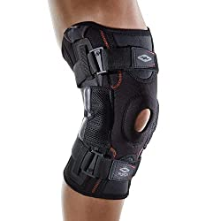 black acl injury brace to support a knee injury