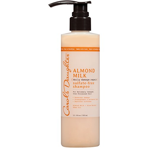 Carol's Daughter Almond Milk Sulfate Free Shampoo with Almond Milk, Aloe Butter and Shea Oil for Extremely Damaged Hair, 12 fl oz