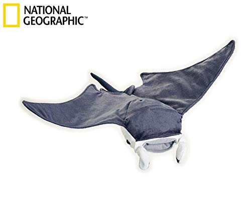 National Geographic Lelly Stofftier Mantarochen, 47 cm, Naturfarben