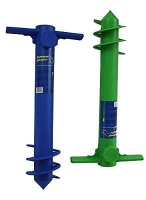 Beach Umbrella Sand Anchor - (Blue or Green)